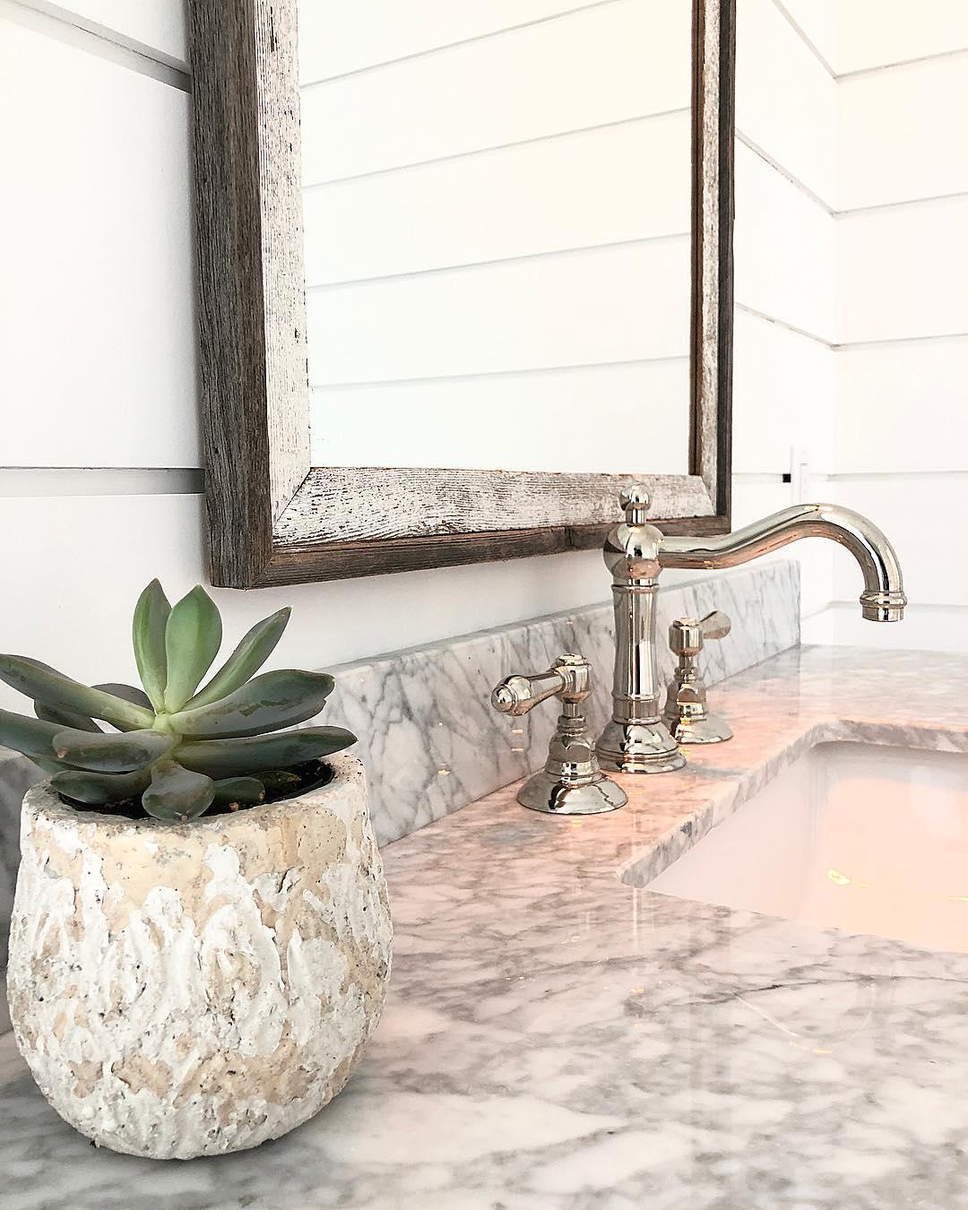 Custom Mirror Example in a Bathroom